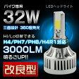 最新改良型CREE 32W最新モデル3000LM 三面設計 MiNi バイク用LEDヘッドライト6000K H4 H4R1 PH7 PH8 H/L 冷却ファン内蔵モデル 1年保証532P15May16