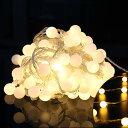 10M 100球 防水LED小さなボールストリング LEDイルミネーションライト シャンパンゴールド 結婚式、ホームパーティー お誕生日パーティー クリスマスな...