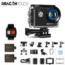 『人気商品COMEBACK』Dragon Touch Vision4 Lite アクションカメラ 4K 20MP 水中カメラ WIFI搭載 2インチ液晶画面 100ft防水カメラ 広角レンズ 手ブレ補正 リモコン付き スポーツカメラ 外部マイク対応 ウェアラブルカメラ