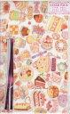 【Miki Takei】たけいみき クリアパック Sサイズスイーツ柄 WP-11822 6枚入り ビニタイ6本付き 半透明バッグ 底マチ付★たけいみきさんデザインのクリアバッグスイーツデザイン小袋おすそ分けバレンタインギフト/ケーキ柄★【3cmメール便OK】