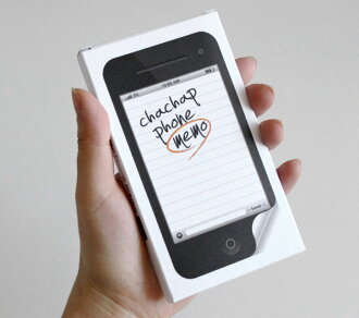 chachap iphone design sticky note paper note phone memo (black) ★ ☆ incase designs of sticky ★ ☆