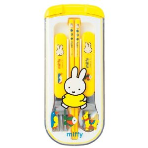 The trio set ctswa MF189 Miffy ★ entrance enrollment of preparation / back to school / excursion / movement / chopsticks spoon fork set case ★