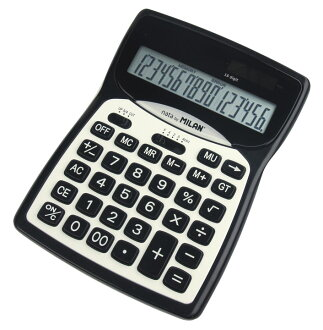 MILAN (Milan) 16-digit calculator product no. 152016 ★ 16 digit でんたく / dentaku /Calculator / back to school / new life / job congratulation ★