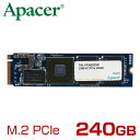 Apacer アペイサー M.2 PCIe NVMe 接続 SSD Z280シリーズ 240GB [AP240GZ280-1] [02P03Dec16]