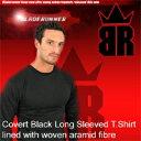 【新素材「ケブラー」による強力トレーナー】【全サイズ入荷!3月5日現在】BRケブラー防刃ロングTシャツ (黒)「ブレードランナー(BLADE RUNNER)」