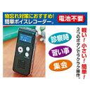 ファミリーライフ 押すだけ簡単録音小型デジタル録音機 3706 03706