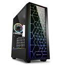 SHARKOON PCケース SHA-RGB LIT100 ブラック SHARGBLIT100