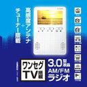 送料無料!!【海宝 KAIHOU】ワンセグTV 3.0型液晶 AM/FM 搭載ラジオ KH-TVR300 FM/AMラジオ【smtb-u】