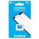 【キオクシア Kioxia 海外パッケージ】キオクシア マイクロSDHC 16GB LMEX1L016GG4 EXCERIA UHS-I Class10 microsdカード