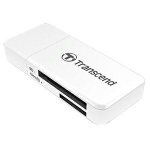 【トランセンド(Transcend)】USB3.0 カードリーダーライター TS-RDF5W(ホワイト)