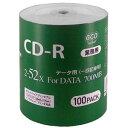 【ハイディスク HI DISC】CR80GP100_BULK (CD-R 700MB 100枚)