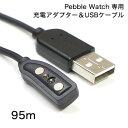 【パイナップル】Pebble Watch 専用 充電アダプター&USBケーブル