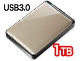 【バッファロー(BUFFALO)】ポータブルHDD1TB 耐衝撃&暗号 USB3.0対応 HD-PNT1.0U3-GC(シャンパントパーズ)