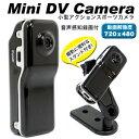 【パイナップル】小型アクションスポーツカメラ 音声感知録画付 microSD32GB対応 720x480 30フレーム バイク 自転車