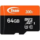 【チーム Team】【microSDXC 64GB】TUSDX64GUHS03【UHS-I】【Class10】
