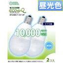 【オーム電機 OHM】エコ電球 7W E17口金 昼光色 EFA10ED/7-E17-2P