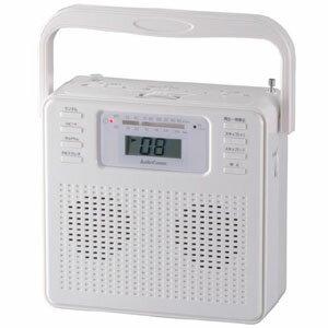 【オーム電機 OHM】ステレオCDラジオ ホワイト RCR-400H-W