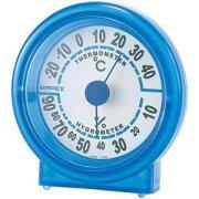 【EMPEX】温度・湿度計 シュクレ温度・湿度計 クリアブルー TM-5526