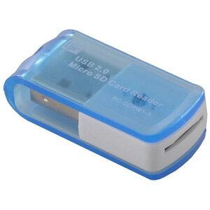 【オーム電機 OHM】8in1マイクロSD専用リーダー ブルー PC-SCRW1-A 01-3521