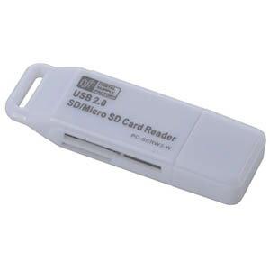 【オーム電機 OHM】33in1マイクロSD+SD用リーダー ホワイト PC-SCRW3-W
