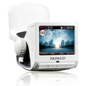 【PAPAGO】GoSafe P1Pro ドライブレコーダー 8GB SDカード+吸盤式マウント付き P1PRO-WH-8G(白)