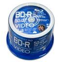 【ハイディスク HI DISC】ハイディスク VVVBR25JP50 BD-R 25GB 50枚 6倍速 ブルーレイディスク 磁気研究所