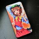 【東方生活協同組合】手帳型iPhone7用「橙」カバー