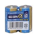 【アイリスオーヤマ IRIS】単2アルカリ乾電池 BIG CAPA α 2本パック シュリンク包装 LR14IB/2S
