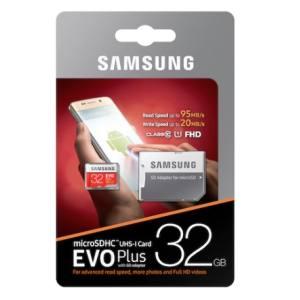 【メール便 送料250円 対応商品】【サムスン SAMSUNG】【microSDHC 32GB】【UHS-1】【Class10】アダプタ付 MB-MC32GA EVO+シリーズ