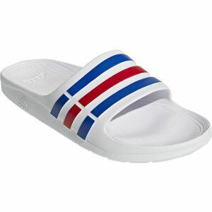 【アディダス adidas】デュラモスライド DURAMO SLIDE 28.5cm ホワイト/トゥルーブルー/レッド サンダル U43664