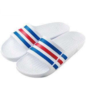 【アディダス adidas】デュラモスライド DURAMO SLIDE 30.5cm ホワイト/トゥルーブルー/レッド サンダル U43664