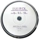 【グッド・ジェイ good-J】GJDL+8X10PW (DVD+R DL 8倍速10枚)