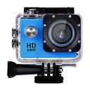 【パイナップル】HD 720p 防水スポーツアクションカメラ ブルー ウェアラブルカメラ スポーツカ...