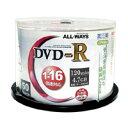 【オールウェイズ ALL WAYS】ACPR16X50PW (DVD-R 16倍速50枚)【CPRM対応】