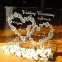 送料無料!!彫刻 ウェルカムボード お名前や日付を記念に! 装飾花付きでお得!今だけ25%OFF オリジナル ウェルカムボード ミニガラスタイプ ウェディングやパーティーに WC2-01