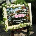 送料無料!!彫刻 ウェルカムボード お名前や日付を記念に! 今だけSALE中 オリジナル ウェルカムボード ミラータイプ ウェディングやパーティーに バラの花 WM1-02-l