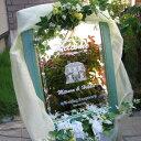 送料無料!!彫刻 ウェルカムボード お名前や日付を記念に! 今だけSALE中 オリジナル ウェルカムボード ミラータイプ ウェディングやパーティーに WM1-06-m