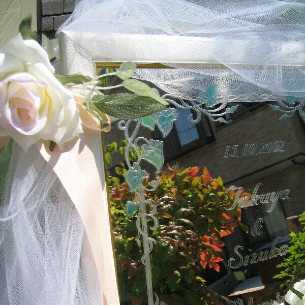 ウェルカムボード【ミラー・大きなバラとアイビー...の紹介画像3