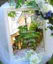 送料無料!!ウェディングやパーティーに! オリジナル オリジナル ミラー ウェルカムボード バラやリボンにパステル着色入り WM1-11-l