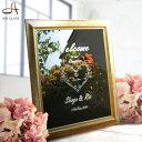 ウェルカムボード 鏡【デザイン20以上!】ブライダル 結婚祝い プレゼント ウェディング オリジナル 手作り 文字 ミラー 額 玄関 挙式 結婚 友人