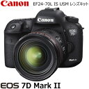 キヤノン デジタル一眼レフカメラ EOS 7D Mark II EF24-70L IS USM レンズキット EOS7DMK2-2470ISLK 【送料無料】