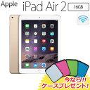 【今ならケースプレゼント!】Apple iPad Air 2 Wi-Fiモデル 16GB MH0W2J/A アップル アイパッド エアー 2 MH0W2JA ゴールド 【送料無料】 【KK9N0D18P】