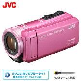 ビクター ビデオカメラ エブリオ 32GB JVC GZ-F100-P ピンク 【送料無料】【KK9N0D18P】