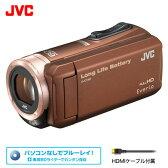 ビクター ビデオカメラ エブリオ 32GB JVC GZ-F100-T ブラウン 【送料無料】【KK9N0D18P】