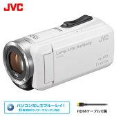 ビクター ビデオカメラ エブリオ 32GB JVC GZ-F100-W ホワイト 【送料無料】【KK9N0D18P】
