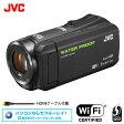 ビクター ビデオカメラ エブリオ 64GB JVC GZ-RX500-B ブラック 【送料無料】【KK9N0D18P】