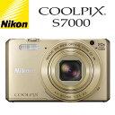 ニコン デジタルカメラ COOLPIX コンデジ COOLPIX-S7000-GL ゴールド 【送料無料】【KK9N0D18P】