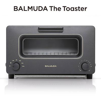 バルミューダ スチーム機能付トースター The Toaster 1300W K01A-KG ブラック 【送料無料】【KK9N0D18P】