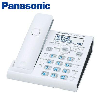 パナソニック デジタルコードレス電話機 RU・RU・RU VE-GDW54D-W ホワイト 【送料無料】【KK9N0D18P】