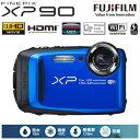 富士フイルム デジタルカメラ FinePix XPシリーズ XP90 FX-XP90BL ブルー 【送料無料】【KK9N0D18P】
